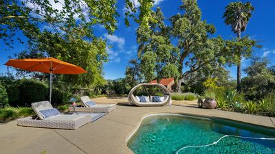 Photo for Private Wine Country Retreat-Luxury estate, pool, hot tub, 3 miles to town