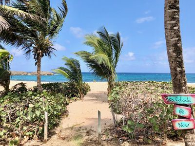 The path to paradise from your private terrace.