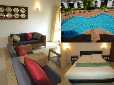 Photo for 04) Very Spacious Luxurious 2 Bedroom Serviced Apartment Arpora & Wi-Fi