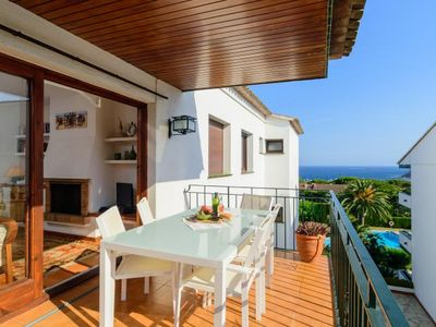 Photo for Calella de Palafrugell Apartment, Sleeps 6 with Pool