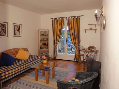 Photo for Charming studio in St Paul de Vence in villa, with terrace and garden