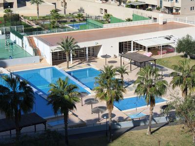 Photo for Penthouse / Penthouse family house in resort - Golf-Beach area with AC + WIFI + Parking