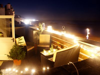 Photo for Stunning 3 bed sea front appartment with stunning views over the beach and pier