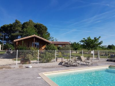 Photo for Superb air-conditioned chalet with swimming pool for 6 people ideal, 8 it is possible