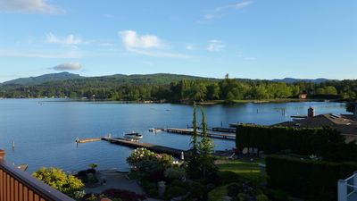 Photo for Fabulous Silver Beach apartment right on Lake Whatcom! Lake Front access, paddleboards and kayaks to use, minutes to downtown and garage parking