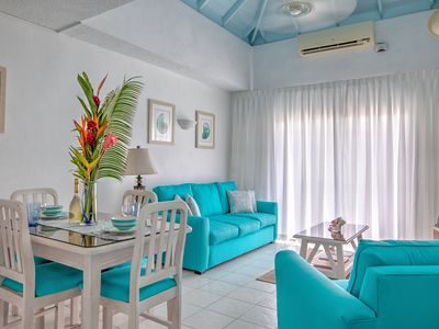 Photo for BLUE TURTLE - Breezy 1BR Rockley Condo near Accra & Worthing beach
