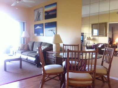 Newly reupholstered chairs, freshly painted walls throughout.