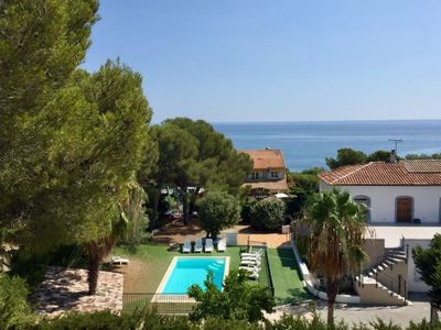 Photo for Saint-Peire-sur-Mer Apartment, Sleeps 6 with Pool, Air Con and WiFi