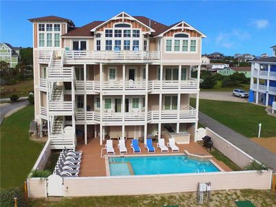 Photo for Oceanfront Extraordinaire-Pool, HotTub, Elevator, Theater & GameRms, DogFriendly