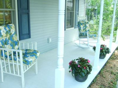 Sit on the porch in a rocking chair on a warm, still day in July!