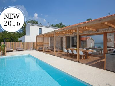Photo for 5* Awarded Design Villa Olea, Luxury Villa with heated pool and 280 m from sea