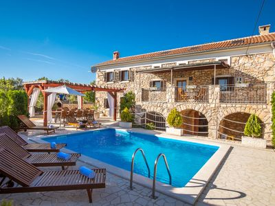 Photo for Villa vitamin Krk, old stone house with swimming pool