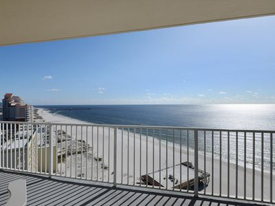 Photo for Gulf Front~Beautiful Unit & Views!!! Toes in the sand in seconds!
