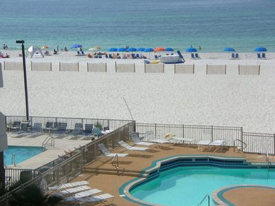 Beach Front view from the living room balcony