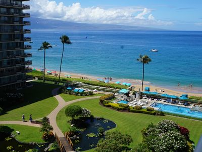 Photo for The Whaler!~ Remodeled 8th floor corner condo with full ocean & mtn views!~