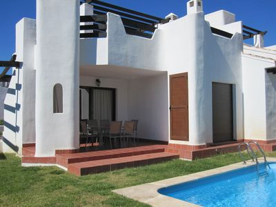 Photo for Luxury 3 bed villa, private garden with pool & large roof terrace.