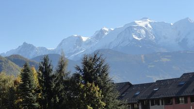 Photo for Spacious Apartment 2 people in new building, terrace view Mont Blanc