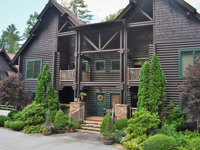 Photo for Incredible Luxury 2 Bedroom 2.5 Bath Log Condo in heart of Sapphire Valley