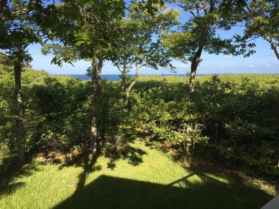 Photo for Beautiful Secluded Property with Vineyard Sound Views and Private Beach