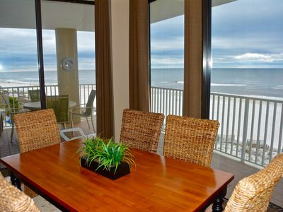 Photo for 4TH FLOOR*BEACHFRONT*CORNER DECK*GRILLS*2 POOLS*