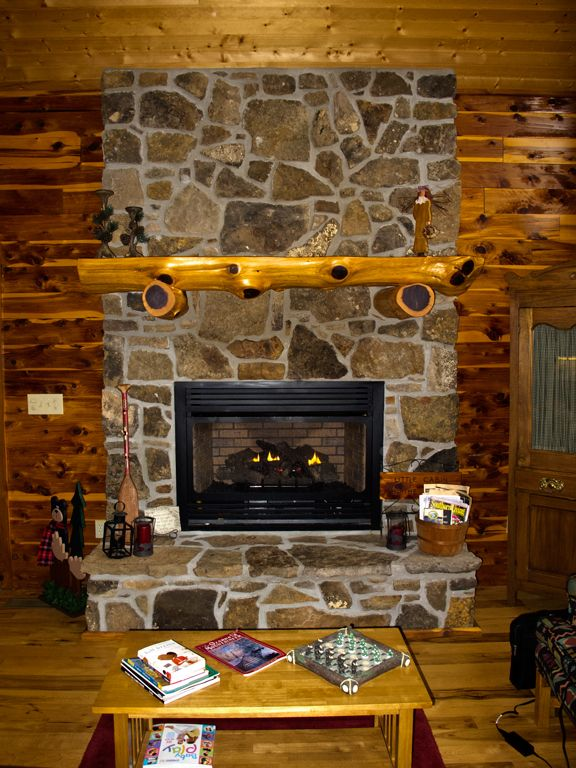 Our Native Stone Fireplace Provides Welcoming Warmth After A Winters Hike