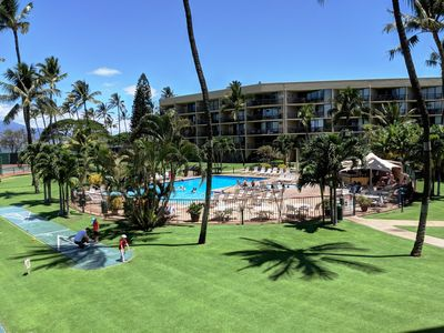 Photo for Maui Sunset 220B ~ 2 BR, 2 BA, Full Kitchen, Ocean View Condo!