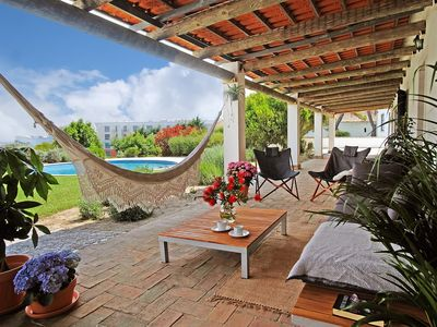 Photo for Close to SESIMBRA, tranquility, swimming pool, terrace, gardens, 10min from the beach