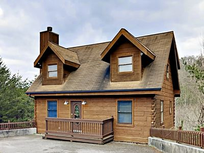 Photo for 3BR w/ Wooded Views, Private Hot Tub, Deck, & Large Game Room, Near Dollywood