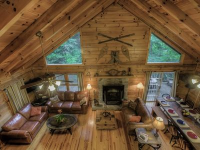 Photo for Walch Creekside Log Cabin Retreat in the Smoky Mountatins Maggie Valley NC