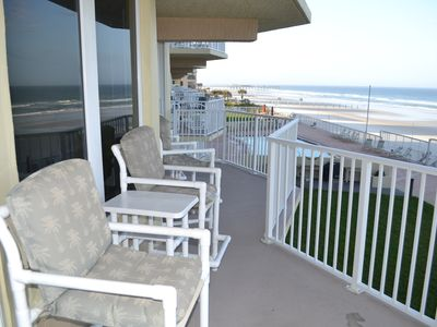 Photo for LOOK @ Specials!!!  Spectacular Oceanfront View-Car Free Beach-Crib-Pool-Extras