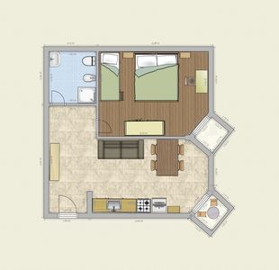 Photo for two-room apartment with parking and swimming pool