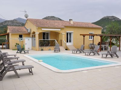 Photo for VILLA WITH POOL - CALVI - 5 min from the BEACH