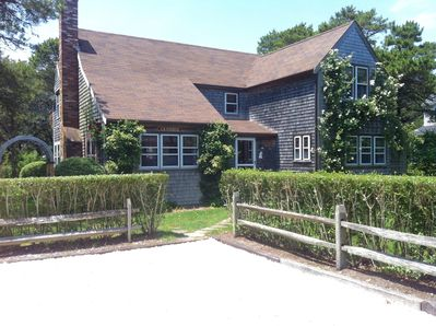 Walk to the beach from this charming post and beam Fishers Landing home.