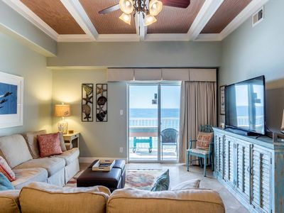 Photo for Newly-Updated 7th Floor Gulf-Front Condo with Beautiful Décor ~ Private Balcony ~ Directly on Beach!