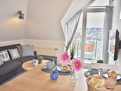 Photo for 2-room maisonette apartment on the land side with balcony for max.