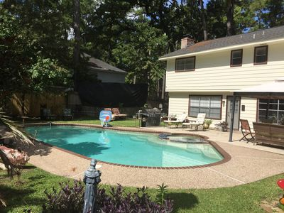 Photo for The Salt Lick Retreat ~ A Quiet Texas Oasis ~ 2BR / 1.5BA; Alarm; Pool; Jacuzzi