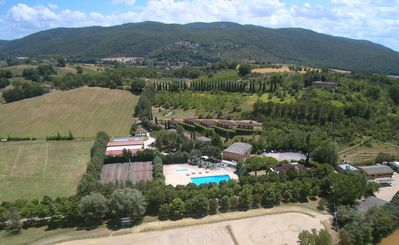 Photo for # 1M Studio Colleverde Club, 10 km from Perugia, garden, swimming pool, stables