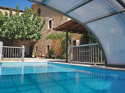 Photo for Traditional Catalan Villa with private heated pool near Costa Brava beaches