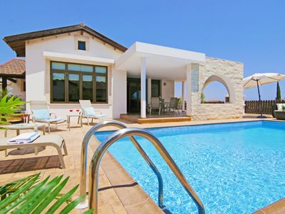 Photo for A Charming One Storey Coastal Villa with Private Pool, A/C set in the Peaceful Area of Ayia Thekla !