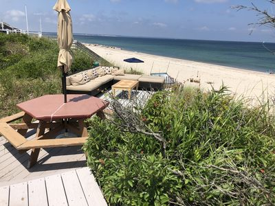 Photo for Oceanfront Beach Cottage on private beach