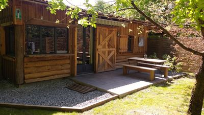 Photo for Wooden chalet in Mios 3/4 people.  OTCDB0193