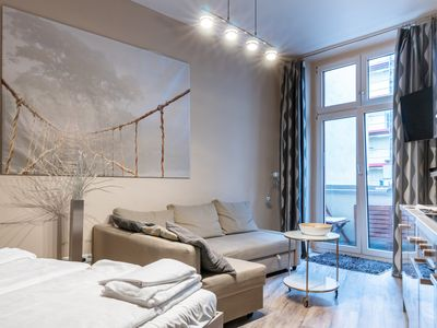 Photo for Upmarket Studio With Balcony and WiFi in great location of Friedrichshain