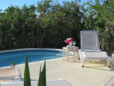 Photo for Beautiful cottage, new pool, views, a short walk to Long Bay beach