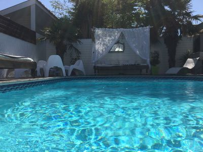 Photo for Villa 10/12 people heated pool Montalivet-les-Bains 300m beach