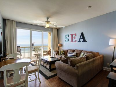 Photo for Beautiful 3rd Floor Condo w Gulf Front Master-Near Pier Park