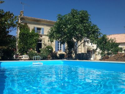 Photo for Lovely Renovated Charentaise Farmhouse with new  pool overlooking fields