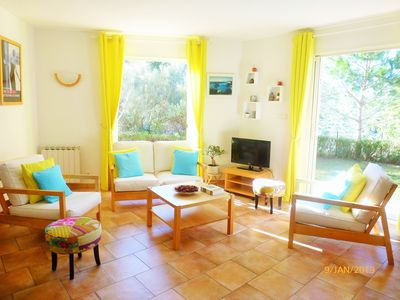 Photo for Very nice 3-room apartment in a villa with garden and loggia
