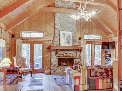 Photo for Historic dog-friendly waterfront cabin w/hot tub & Salmon River access