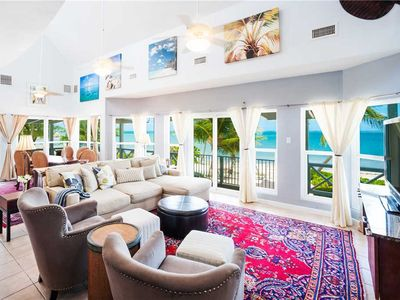 Photo for Lone Palm: Designer Beach Villa w/ Oceanfront Pool & Wrap-Around Porch for Sunset Views