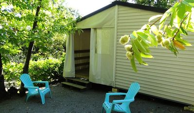 Photo for Camping Les Châtaigniers ** - Mobile home Tithome 3 rooms 4 persons
